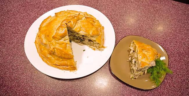 Пошаговый рецепт классического курника с фото