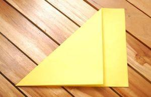 Листок бумаги для изготовления тюльпана