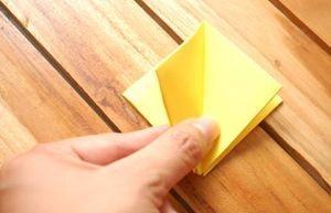 Правильный загиб для тюльпана из бумаги