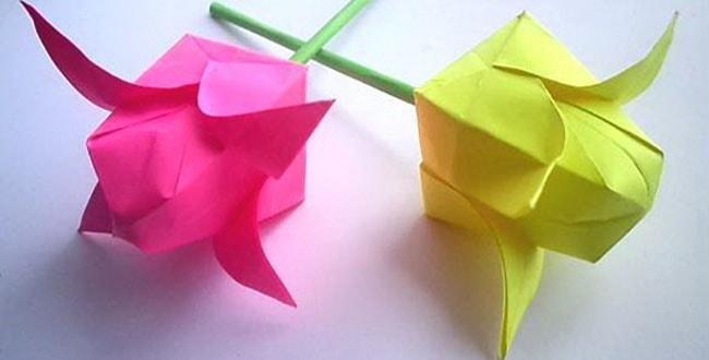 Как сделать тюльпан из бумаги своими руками — схема сборки и видео мастер-класс