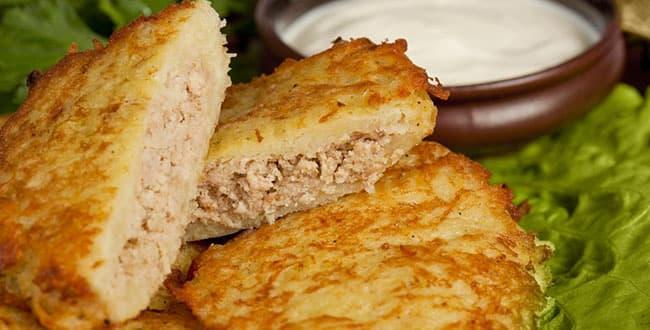 Драники с мясом — самый простой рецепт