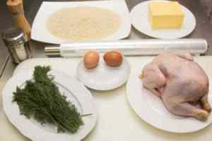 Ингредиенты для куриных котлет по-киевски