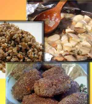 Готовим постные котлеты из гречки с грибами
