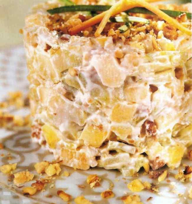 Готовим салат из куриной грудки с анансами