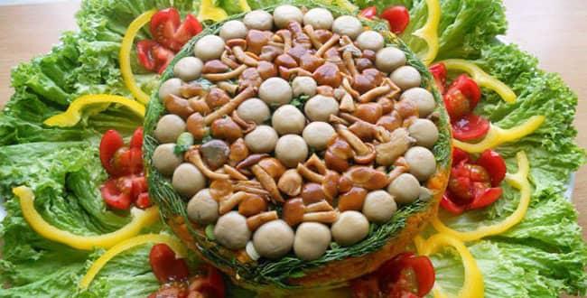 Вкусный салат «Грибная поляна» — рецепт с изюминкой