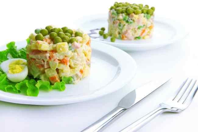 Классический салат оливье с колбасой - рецепт с фото