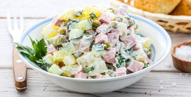 Очень вкусный салат оливье — рецепт с фото