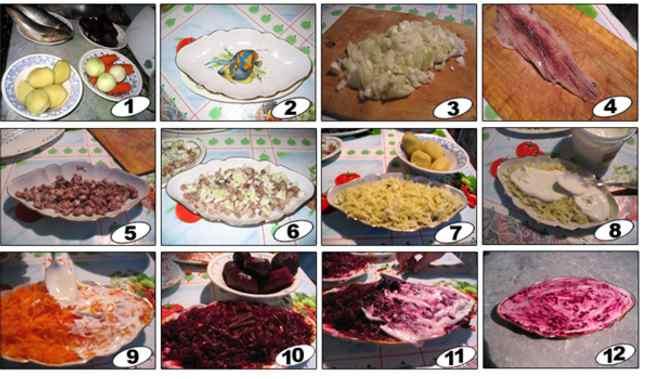 Классический рецепт салата сельдь под шубой