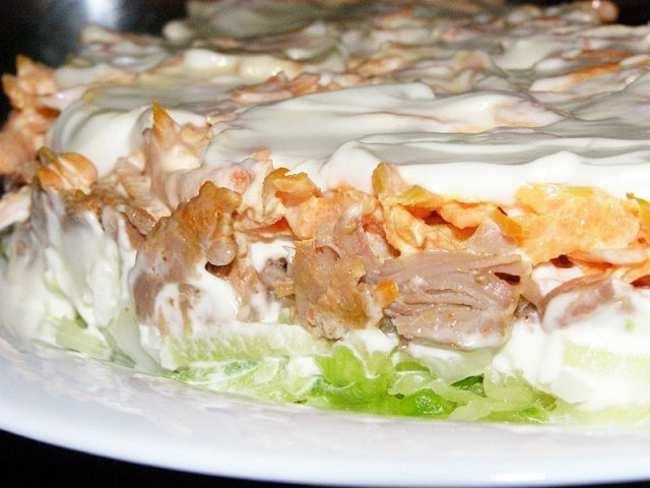 Оригинальный салат мужской каприз - рецепт с фото