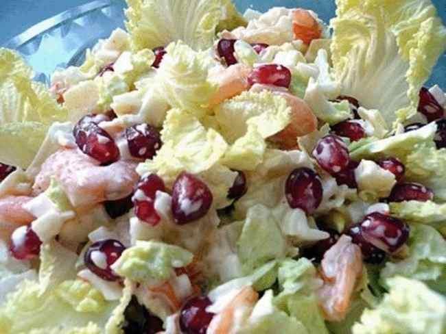 Простой салат из морепродуктов рецепт с фото