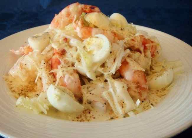 Вкусный салат из морепродуктов рецепт с фото