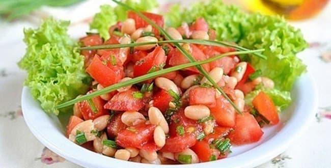 Салат с фасолью — простые и вкусные рецепты с фото