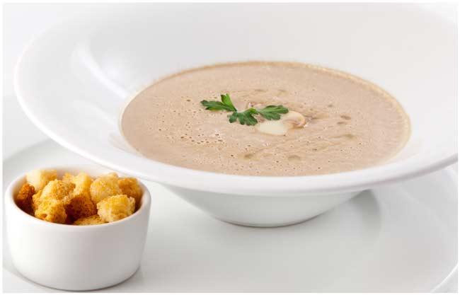 Вкусный грибной суп пюре из шампиньонов со сливками рецепт с фото