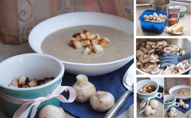 Как быстро приготовить грибной суп из шампиньонов