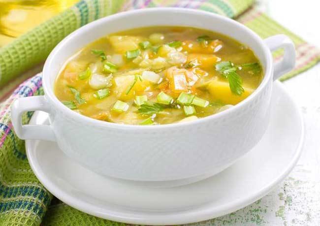 Вкусный суп на овощном бульоне рецепт