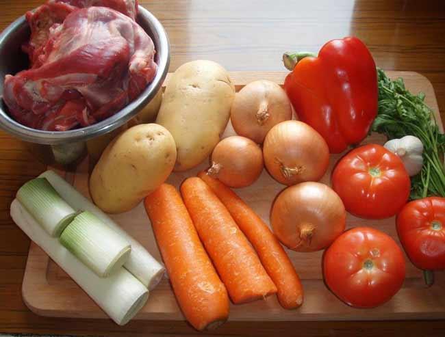 Ингредиенты для настояещей шурпы из баранины