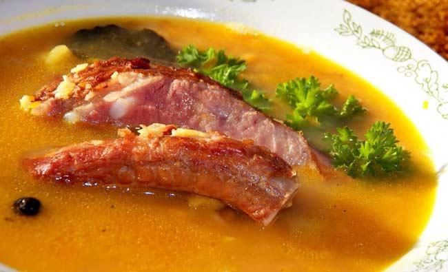 Суп гороховый с копчеными ребрышками пошаговый рецепт с фото