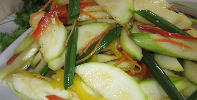 Салат из кабачков по-корейски: рецепт на зиму