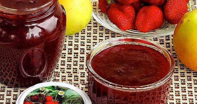 Оригинальный рецепт клубничного джема с добавлением сока из яблок