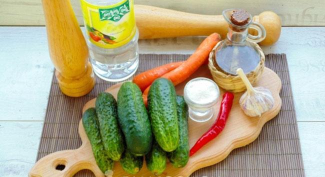 Выбор ингредиентов для салата из огурцов по-корейски