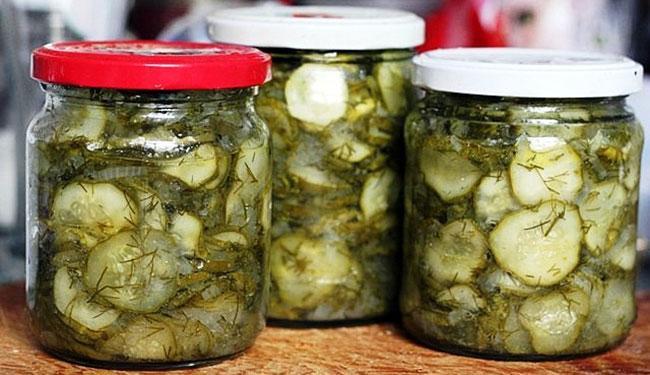 Хранение салата из огурцов Нежинский