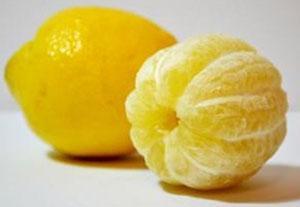 Снимаем кожуру с лимона для варенья