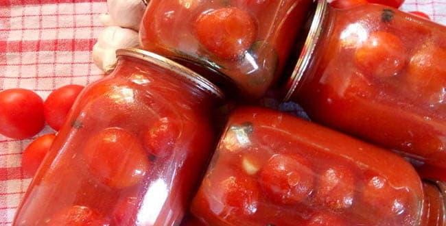 Консервированные помидоры в томатном соке: рецепт на зиму