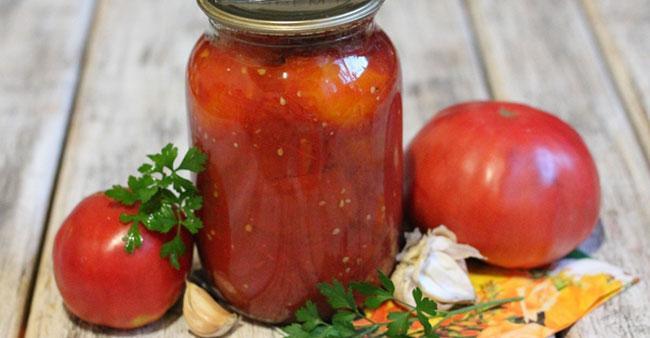 Хранение помидоров в томатном соке