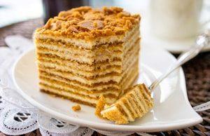 Торт Медовык со сметаной