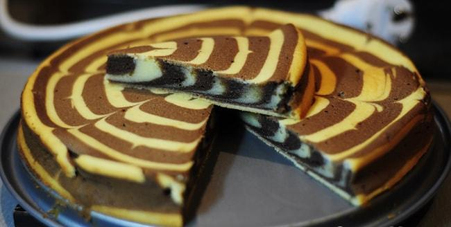 Торт Зебра приготовленный в мультиварке