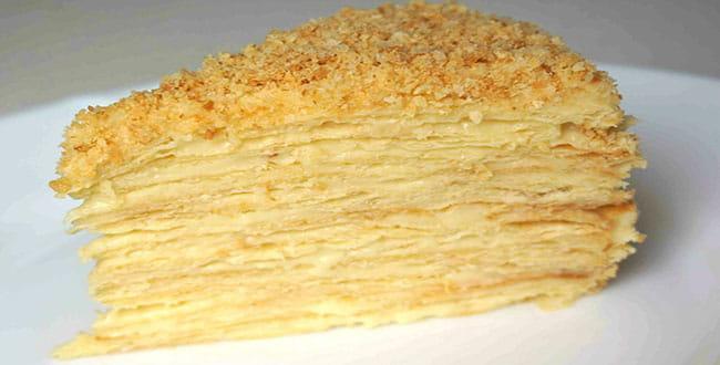 Рецепт торта Наполеон с заварным кремом