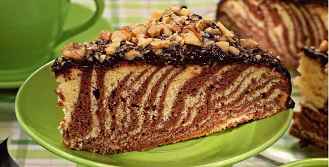 Торт Зебра фото 🥝 как испечь бисквит с кремом