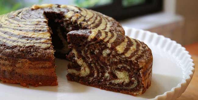 Торт Зебра на кефире: рецепт с фото