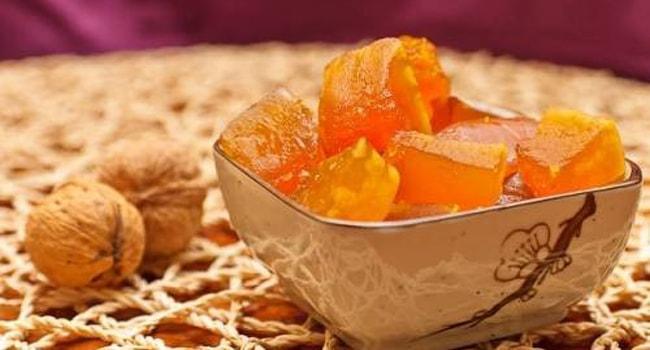 Так выглядят цукаты из тыквы в мультиварке
