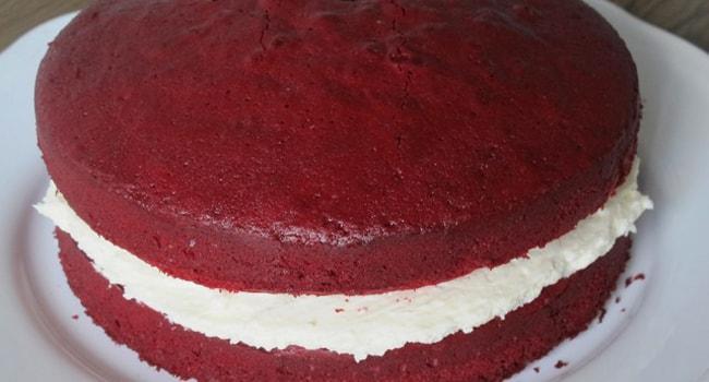 Формируем торт Красный бархат