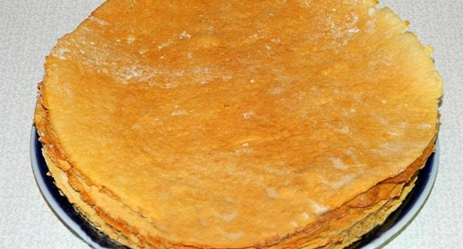 Готовые коржи для Медовика с заварным кремом по калссическому рецепту