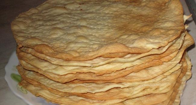 Так выглядят готовые коржи для торта Наполеон