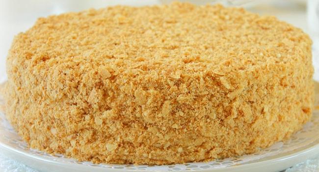 Готовый торт Наполеон по классическому рецепту