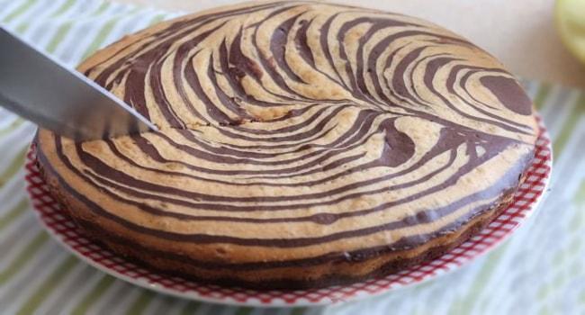 Так выглядит кекс-торт Зебра классический