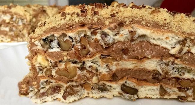 Так выглядит Королевский торт в разрезе