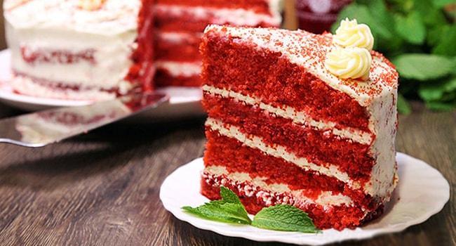 Готовый торт Красный бархат