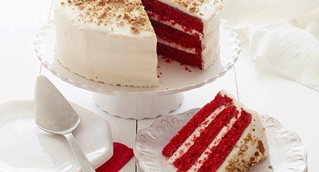 Так выглядит торт Красный бархат