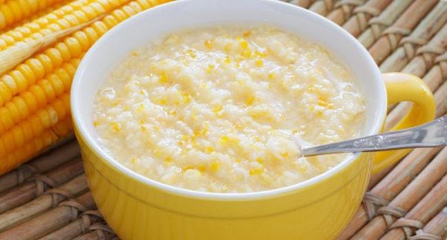 Кукурузная каша с тыквой на молоке