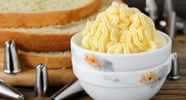 Масляный крем для торта Наполеон