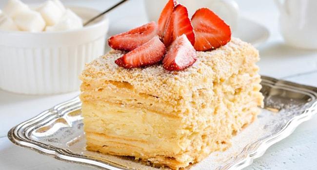 Торт Наполеон из покупного теста