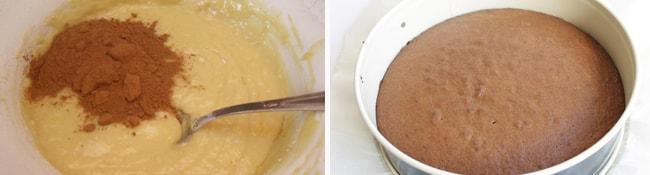 Готовим шоколадное тесто и выпекаем корж