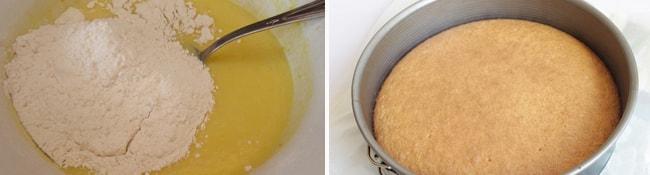 Готовим тесто и выпекаем корж для торта
