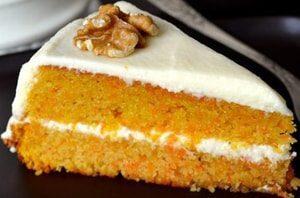 Так выглядит Морковный торт классический с маскарпоне