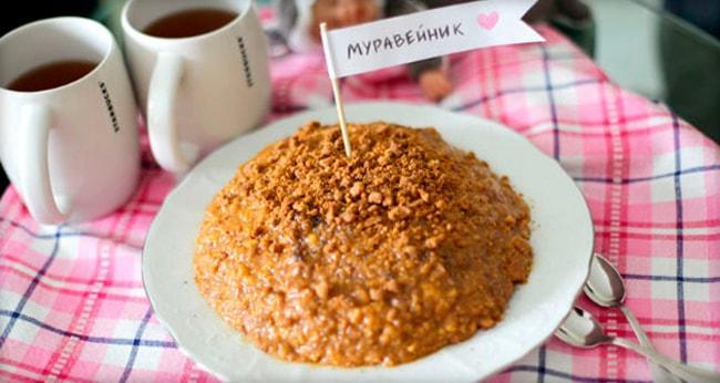 Торт Муравейник классический без выпечки