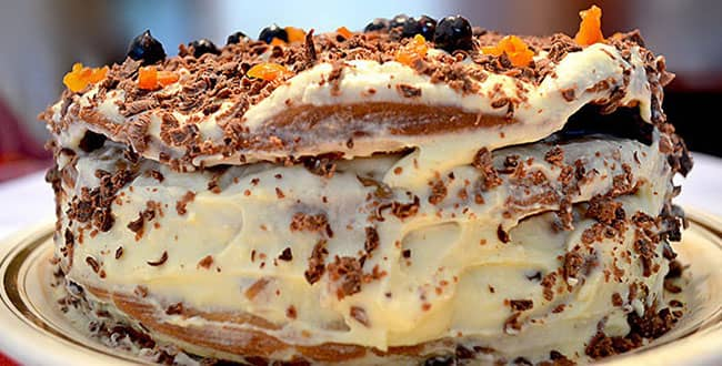 Пошаговый классический рецепт торта Трухлявый пень с фото
